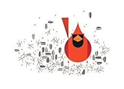 Charley Harper Lithograph- ''Cardinal Close-up