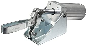 DE-STA-CO 810-U Pneumatic Hold-Down Clamp with U-Bar, 600 lb Hold Capacity