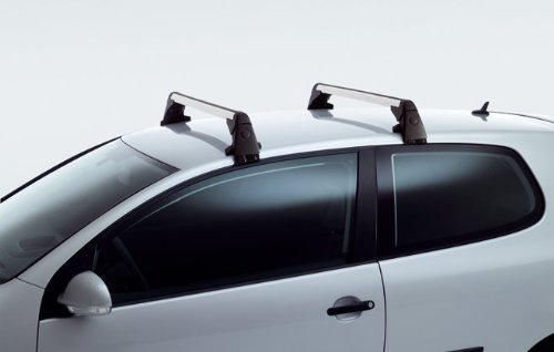 1K0-071-126 Original Volkswagen Roof Racks For GTI 06-14 and Golf 09-14 (Thule Cross Bar Lock compare prices)