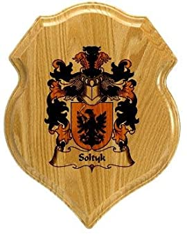 Soltyk Coat of Arms Plaque / Family Crest Plaque