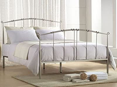 Maple 4ft6 Double Black Metal Bed