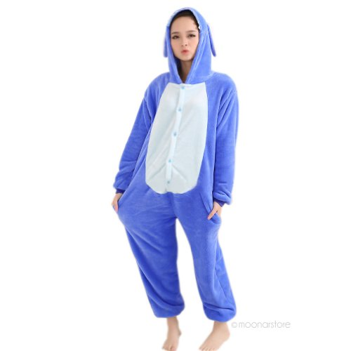 Winter Blue Koala Pajamas Cosplay Costume Footed Sleepwear For Women Men