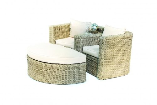 Memphis Rattan Gartenmöbel 2er sofa Paris