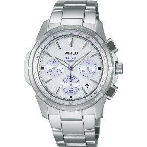 腕時計 WIRED watch solar chronograph White Dial AGAD030 mens watch【並行輸入品】