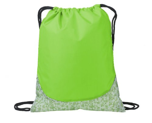 Port Authority Patterned Cinch Pack, Digital Lime