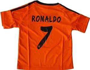 Buy 2013 2014 REAL MADRID ORANGE AWAY RONALDO 7 FOOTBALL SOCCER KIDS JERSEY by RMCF