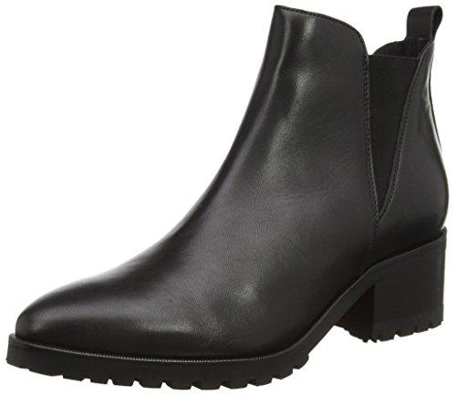 SELECTED FEMME Sfminna Leather Boot F, Stivaletti a gamba corta mod. Chelsea, imbottitura leggera donna, Nero (Nero (nero)), 39