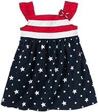 Age 1-6 Kids Patriotic Star Striped Girl Dress