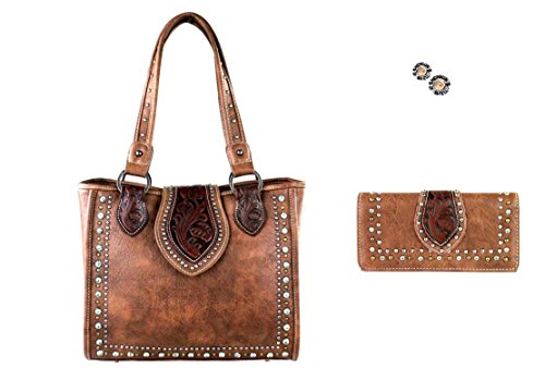 trinity-ranch-montana-west-concealed-carry-gun-tooled-purse-wallet-set-earrings-set-brown