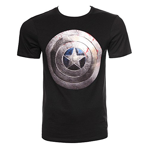 Marvel Unisex-adult's Captain America Silver Shield T Shirt
