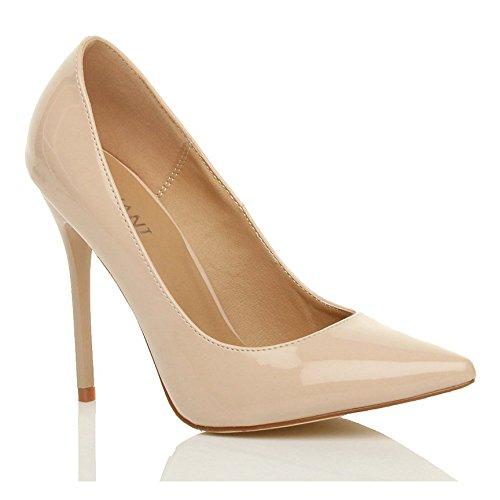 Donna tacco alto lavoro festa elegante scarpe décolleté a punta taglia 4 37