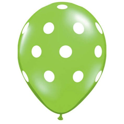 "11"" Big Polka Dots Lime Green"