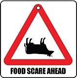 FOOD SCARE AHEAD CAR AIR FRESHENER (CHRISTMAS STOCKING FILLER)