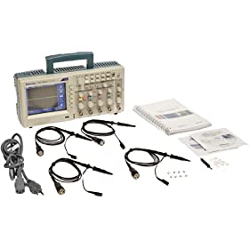 Tektronix TDS2024C Portable Digital Oscilloscope, 200MHz Bandwidth, 2GS/s Sample Rate, 2.5k Record Length, 4 Channels, Color TFT-LCD