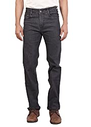Wood's Carbon Black Colored Solid Stretchable Denim Jeans For Men -30