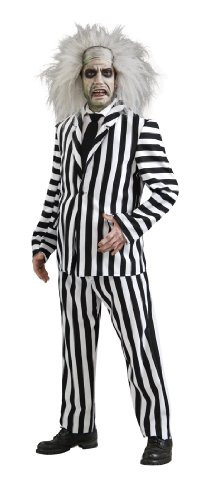 Deluxe Beetlejuice 80s Film Adults Costume. Inc. Trousers, Jacket, Shirt, Tie. Wig not included.