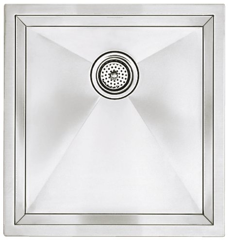 Blanco 516224 16-Inch Precision R10 Medium Single Bowl Undermount Sink, Stainless Steel