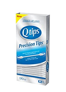 QTips Cotton Swabs, Precision Tip, 170 Count (Pack of 3)