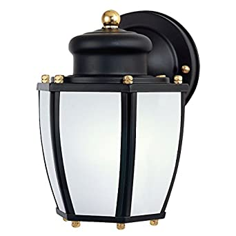 westinghouse 6451600 one light exterior wall lantern with dusk to dawn. Black Bedroom Furniture Sets. Home Design Ideas