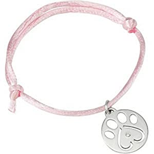 IceCarats Designer Jewelry 14K White Gold Our Cause For PawsTM Bracelet Or Charm 8 Inch