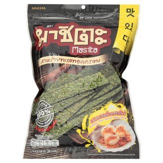 Scallop with Kimchi Sauce Flavour Fried Seaweed 36g (Pack of 3) (Roasted Seaweed Kimchi compare prices)