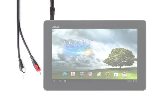 DURAGADGET 3,5 mm Klinken-Stecker-Stereo für ASUS MeMO Pad Smart / Fonepad ME371MG / Google Nexus 7 16 GB / Transformer Pad TF300T Tablet PC