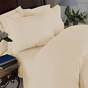 Elegant Comfort 1500 Thread Count Wrinkle & Fade Resistant Egyptian Quality Ultra Soft Luxurious 4-Piece Bed Sheet Set, King, Beige