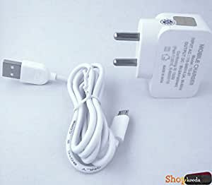 "Celkon Campus A354C COMPATIBLE ACTAUAL ""2.0 Ampere"" Superfast Charging Wall Charger + Charging Cable"