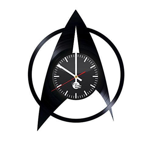 Star Trek Insignia Vinyl Record Wall Clock