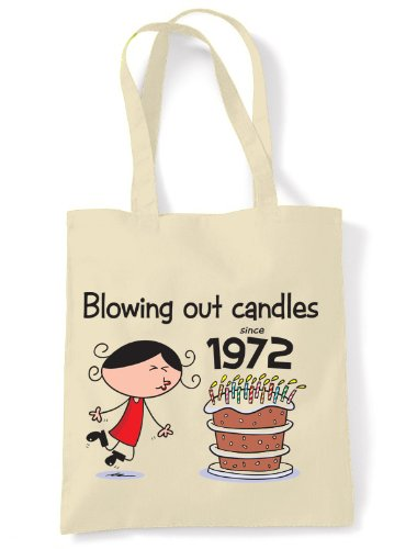 Blowing Out Candles Since 1972 40th Birthday Tote / Shoulder Bag