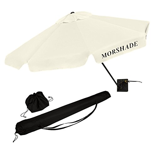 morshade-360-portable-shade-canopy-sun-and-beach-umbrella-9-foot-with-multiple-base-attachments-whit