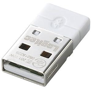 Logitec Bluetooth 2.1対応USBアダプタ マイクロサイズ ホワイト LBT-UAN01C1WH