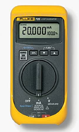 Fluke 705 Loop Calibrator, 28V Voltage, 24mA Current, 0.025 percent Accuracy