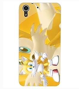 ColourCraft Cute Cartoon Cat Design Back Case Cover for HTC DESIRE 626