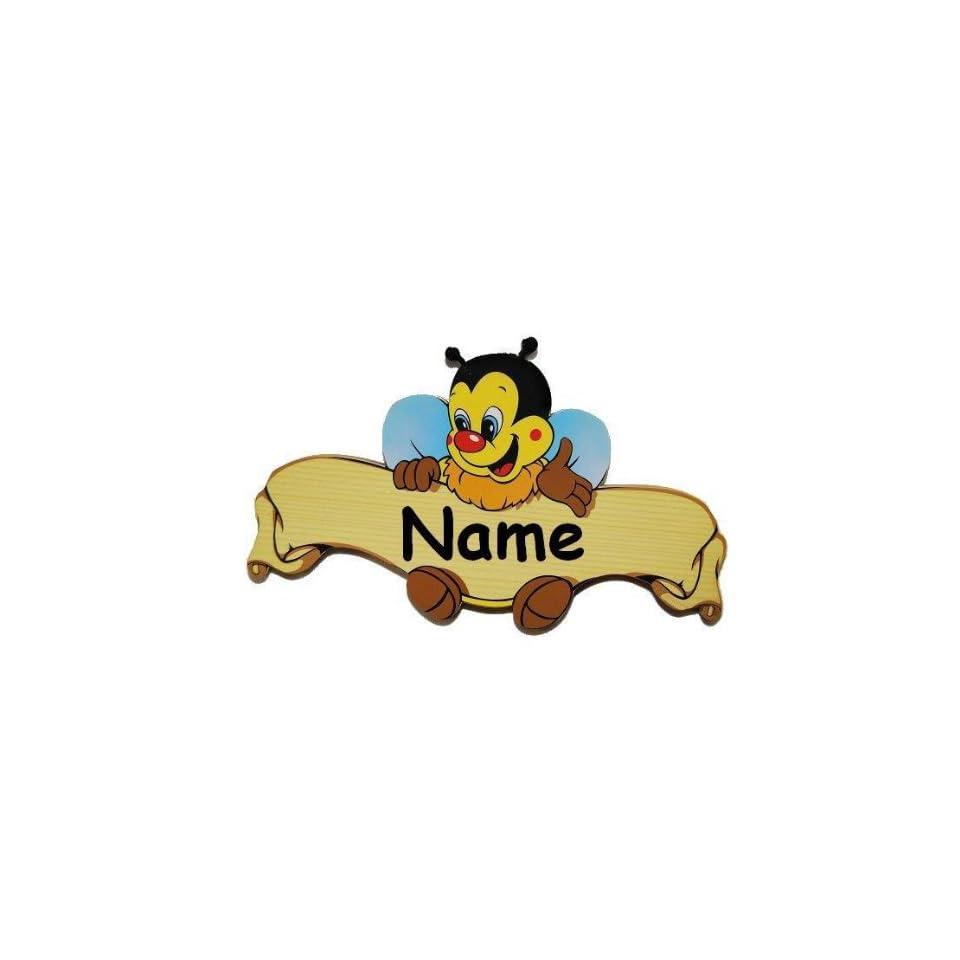 Turschild Namensschild Schild Kinderzimmer Holz Kinder Biene Tier On