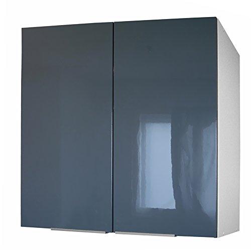 Berlenus-CP8HG-Kchen-Wandschrank-2-Tren-hochglnzendes-Finish-80-cm-Grau