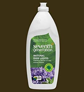 Natural Dishwashing Liquid, Lavender Floral & Mint, 25 oz. Bottle