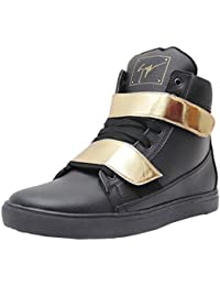 West Code Men's Synthetic Leather Casual Shoes Gold-G-Black
