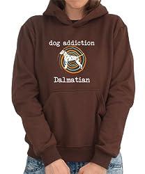 DOG ADDICTION Dalmatian Womens Hoodie