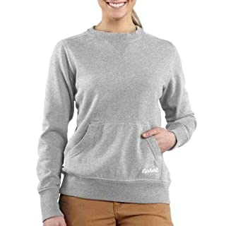 Carhartt Women's Clarksburg Crewneck Sweatshirt, Heather Gray, X-Large