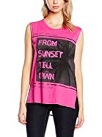 Guess Top Graphic Knit Top (Fucsia)