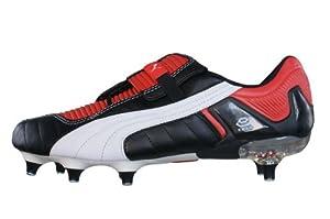 Puma V Konstrukt III SG hommes Cuir chaussures de football / Cleats - noir & rouge - SIZE EU 44.5