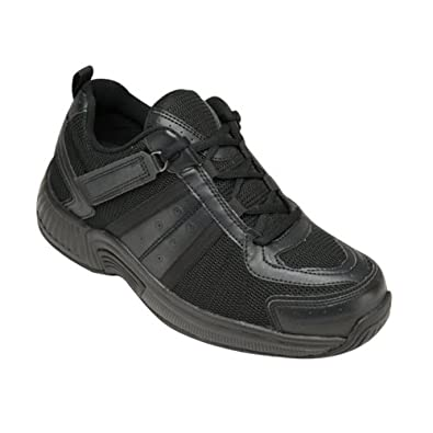 Orthofeet 911 Tahoe Women's Comfort Diabetic Extra Depth Shoe: Black 5 Medium (B) Lace