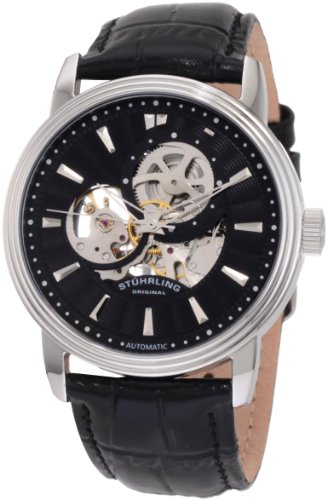 Stuhrling Original Men's 1076.33151 Classic Delphi Acheron Automatic Skeleton Black Watch