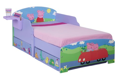Peppa Pig Toddler Bed with Underbed Storage and Bedside Table