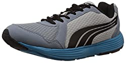 Puma Mens Descendant v2 IND DP Tradewinds-Grey-Black-Ocean Mesh Running Shoes - 10UK/India (44.5EU)