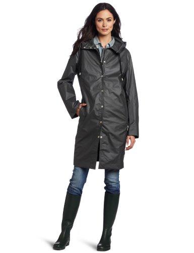 ILSE JACOBSEN Women's Waterproof Rain Coat, Grey, Small