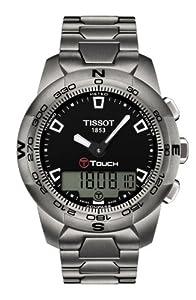 Tissot T-Touch II Black Dial Titanium Mens Watch T0474204405100
