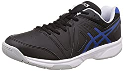 Asics Mens Gel-Gamepoint Black, Blue and White Tennis Shoes - 7 UK/India (41.5 EU) (8 US)