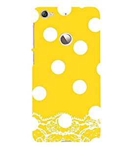 Vizagbeats White Polka Dot Pattern Back Case Cover for Le TV Le 1s